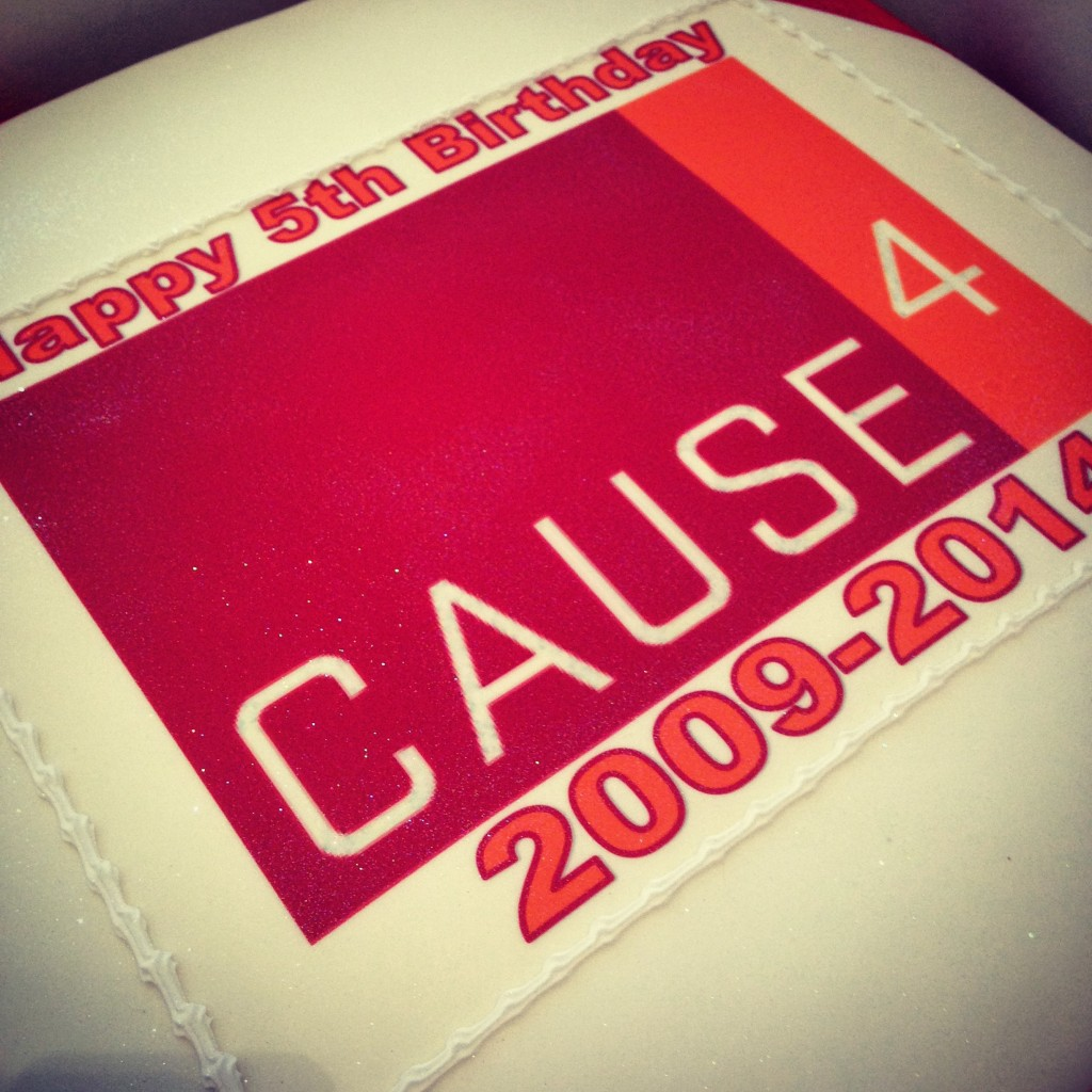 The Cause4 birthday cake