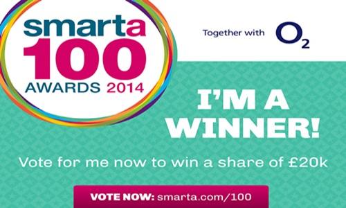O2 Smarta 100 winner