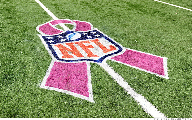 The NFL turned pink throughout the month of October for Breast Cancer Awareness
